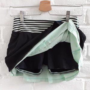 Lululemon Tennis Skort Shorts Skirt Black Green 2